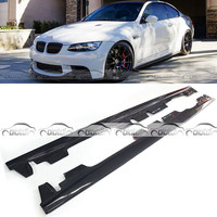 E Style Carbon Fiber Body Trim Side Skirt Bumper Extension Lip For BMW 3 Series E92 E93 M3 2008 2013 OLOTDI Car Styling
