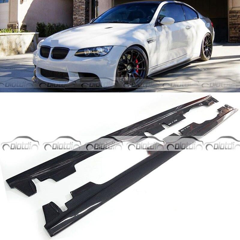 Lèvre d'extension de pare-chocs de jupe latérale de garniture de corps de Fiber de carbone de Style d'e pour BMW 3 Series E92 E93 M3 2008-2013 OLOTDI Style de voiture