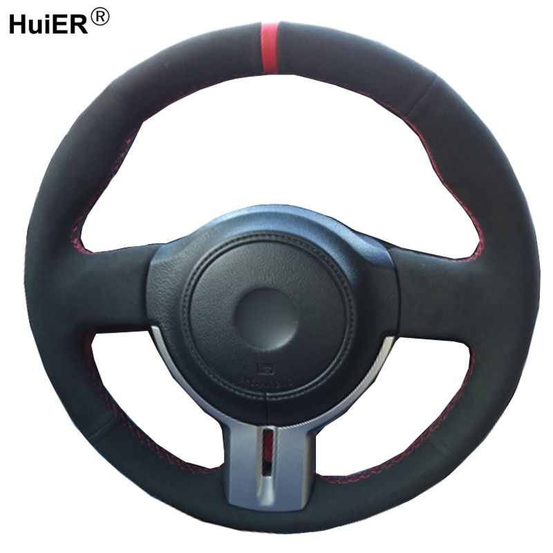 HuiER DIY Hand Sewing Car Steering Wheel Cover Suede Leather For Toyota 86 2012  2014 2015 Subaru BRZ 2012 2013  2015 Scion FRS|Steering Covers|Automobiles & Motorcycles - title=