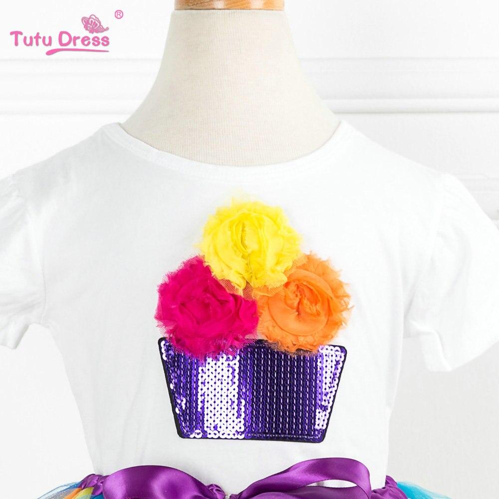 2018 nieuwe komen zomer meisjes kleding sets cartoon bloem t-shirts + - Kinderkleding - Foto 3