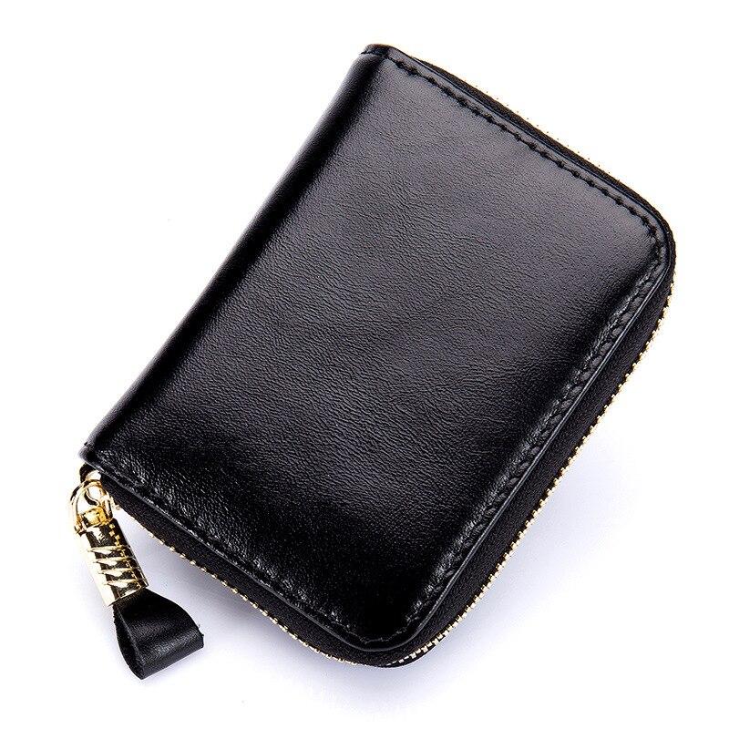 Genuine Leather Card Holder For Men Women RFID Blocking Solid Credit Multi Card Bit Holder For