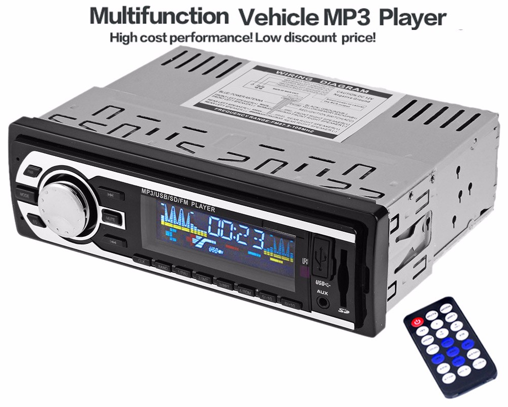 Model Universal 1 Din Car Radio 1Din Car Audio Stereo FM SD MP3 Player AUX USB In-Dash Car Electronics with Remote Control