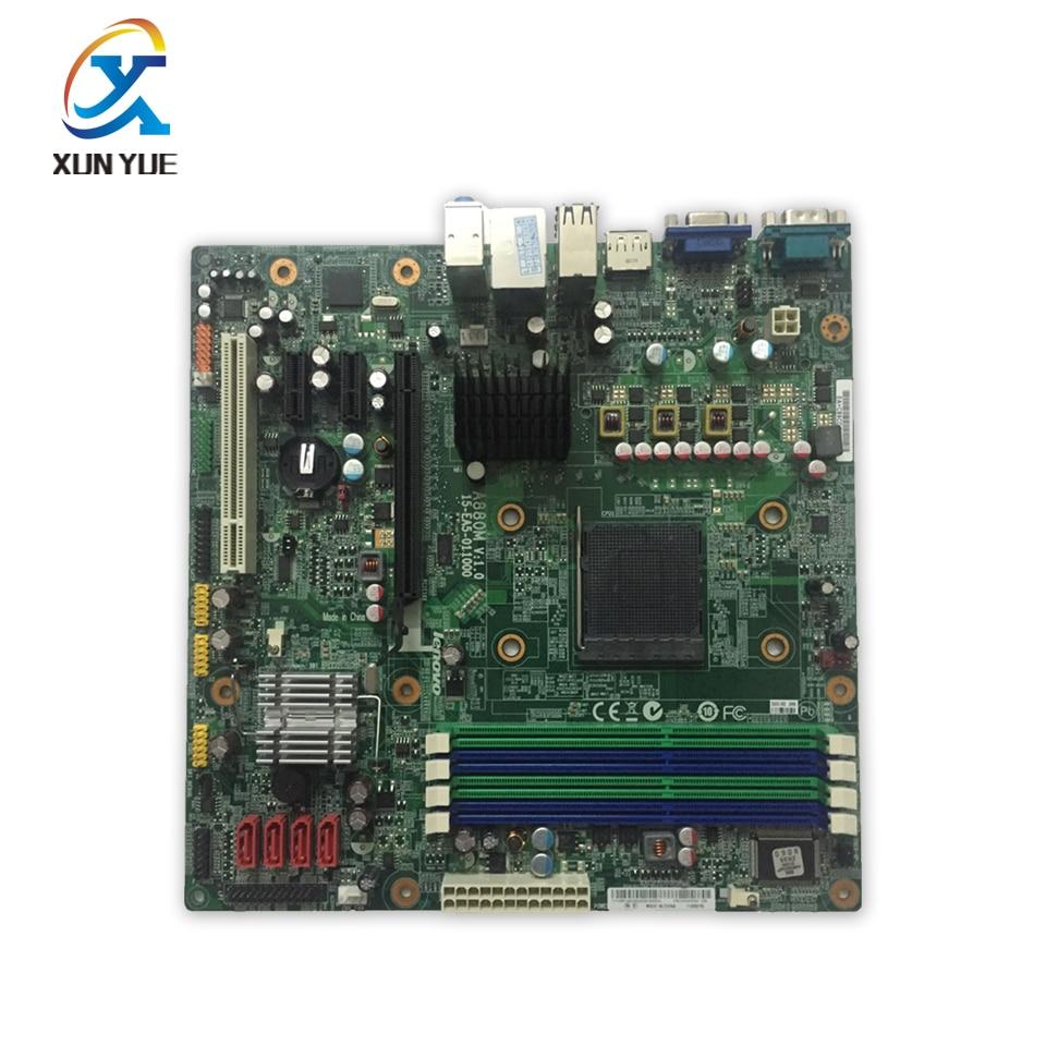 все цены на A880M V:1.0 Original Used Desktop Motherboard 880G AM3 DDR3 RS880PM-LM ThinkCentre M77 онлайн