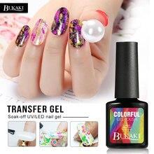BUKAKI фольга для ногтей Клей для нейл-арта переводная наклейка для природы УФ-гель для ногтей прозрачный клей Французский маникюр инструменты