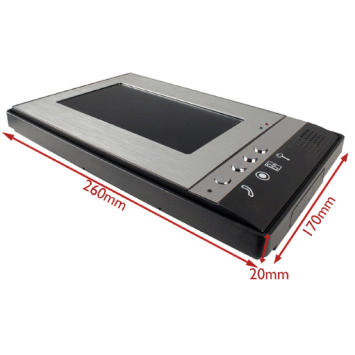 SmartYIBA 7 inch Color Video door phone Intercom Doorbell System Kit IR Camera doorphone monitor Speakerphone intercom