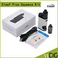 100% Original Eleaf Pico Squeeze Box Mod Kit with Coral 50W Starter Kit Powered by Single 18650 Cell
