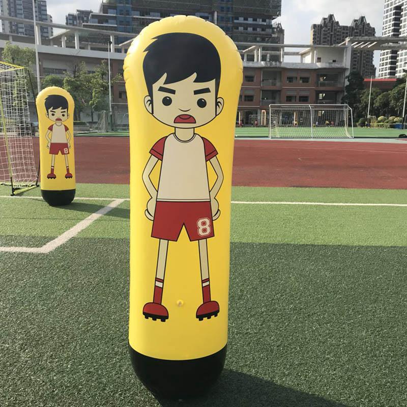 1.6m Inflatable Football Training Goal Keeper Column Stand Tumbler Soccer Train Dummy for Kid Adult ASD88
