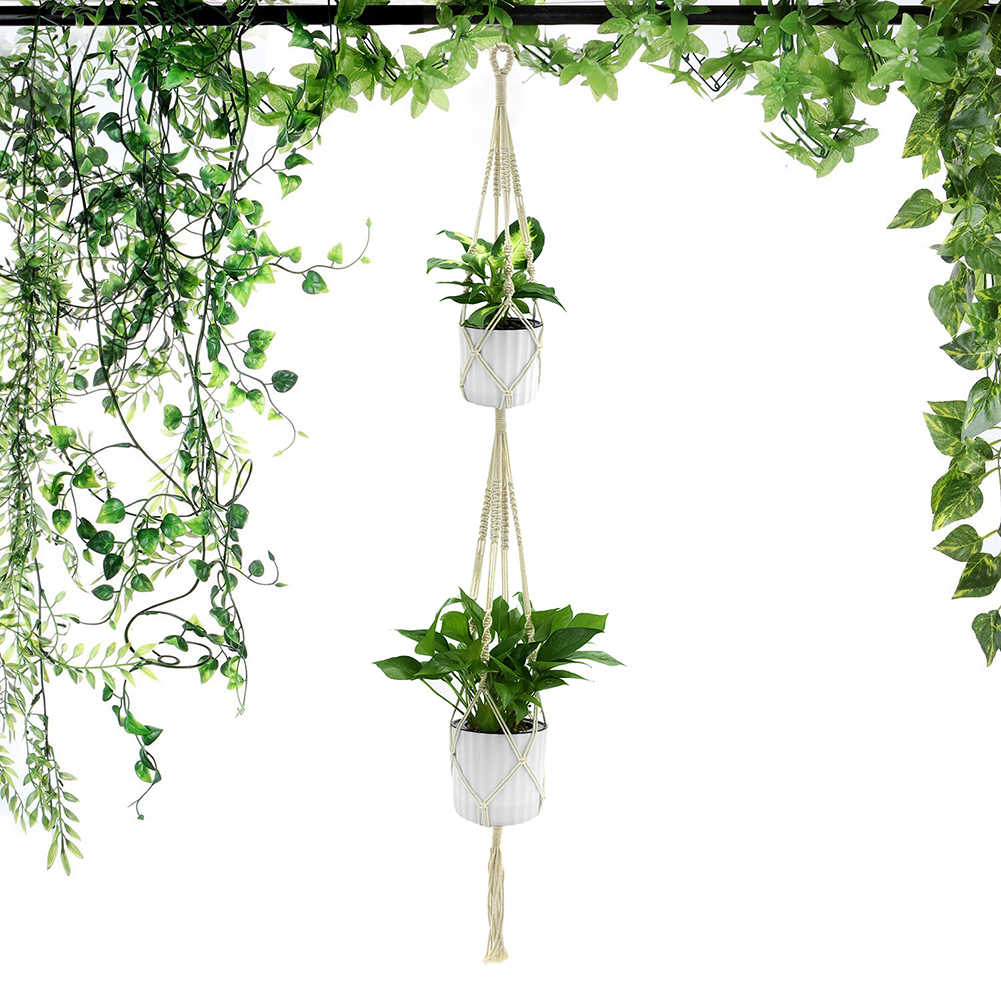 WITUSE 1PC Macrame Plants Hanger Hook 4 Legs Retro Flower Pot Hanging Rope  Holder String Home Garden Balcony Decoration Wall Art|hanger hook|plant  hangerplant hook - AliExpress