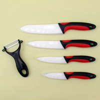 Top quality 3 4 5 6 inch Secondary injection handle Zirconia Ceramic fruit vegetable knife set with Peeler+Covers