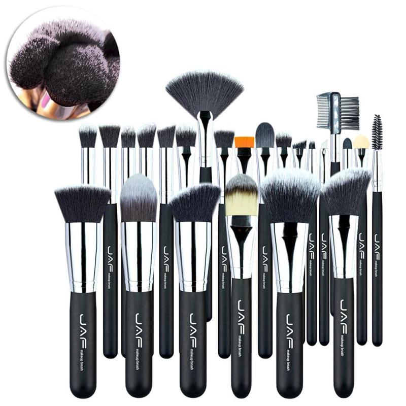 JAF 24 Pcs Professional Soft Synthetic Hair Makeup Brushes Gift Eyeliner Lip Foundation Powder Brush Set