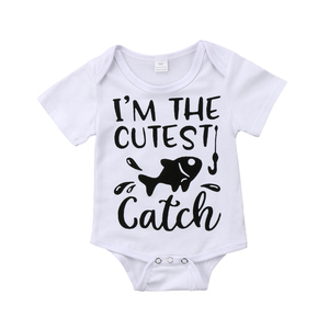 Newborn Baby Girl Boy Fish Cutest Romper Jumpsuit Outfits Sunsuit Clothes Cute Newborn Toddler Infant Baby Kid(China)