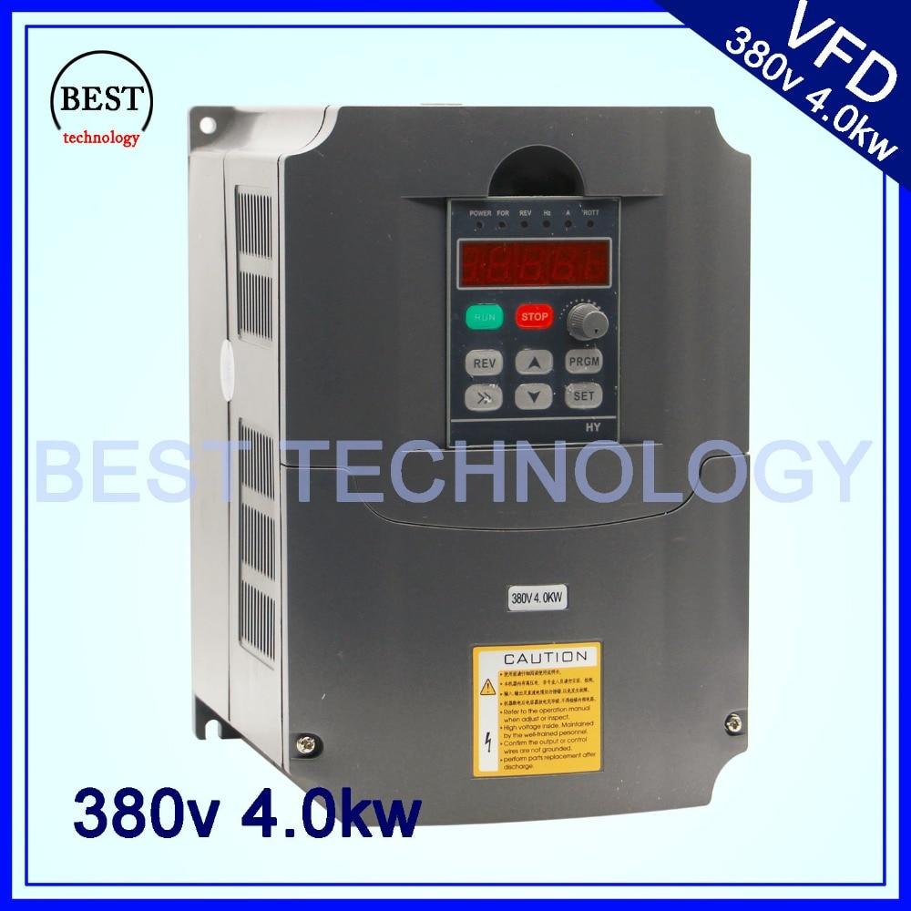 380 v 4kw VFD Variável inversor De Freqüência Inversor Vfd 3HP 3HP inversor de Freqüência de Saída do eixo de Entrada de controle de velocidade do motor