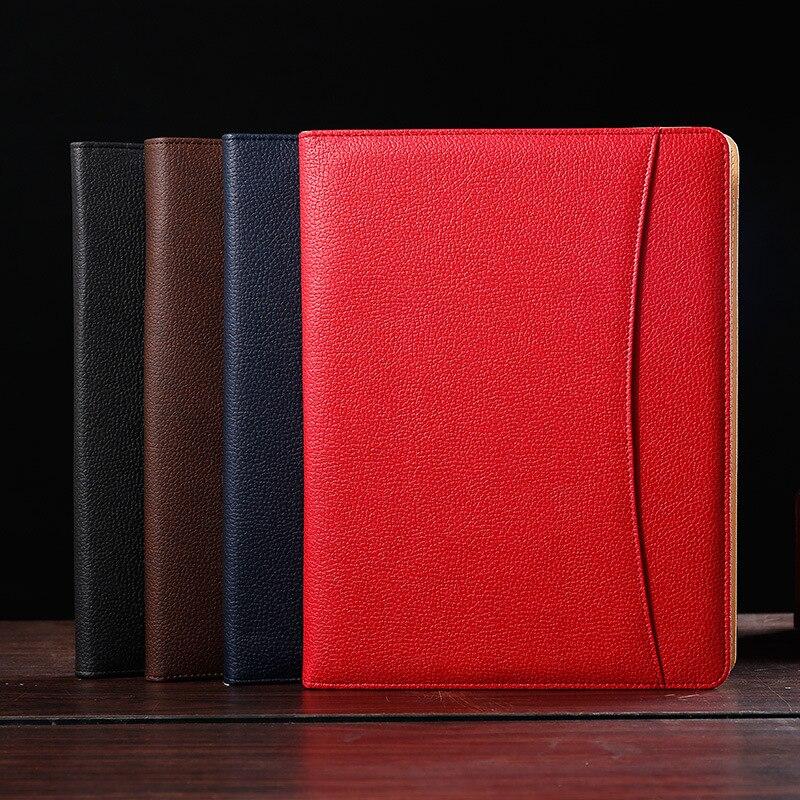 A4 Padfolio multifonctionnel dossier d'affaires pour Document Pu gestionnaire de fichiers titulaire organisateur de bureau avec calculatrice pas de pochette de reliure