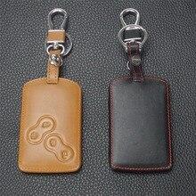 Удаленный 4 btn кожаный брелок для ключей чехол для Renault Koleos Лагуна 2 3 Megane 1 2 3 Sandero живописные Captur Clio Duster Fluence