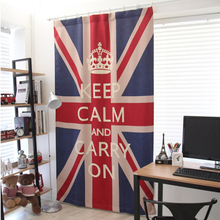 Printed colorful uk flag style modern 3d curtains for the kitchen cotton bedroom bathroom window curtain
