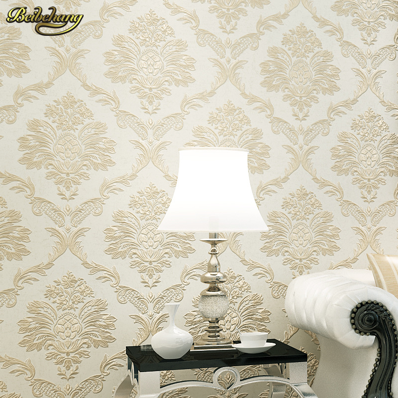 beibehang three - dimensional non - woven wallpaper bedroom living Fine pressure Continental Damascus wallpaper environmental beibehang three - dimensional non - woven wallpaper bedroom living Fine pressure Continental Damascus wallpaper environmental