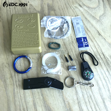 11 in 1 survival kit Set Outdoor Camping Travel Multifunction First aid SOS EDC Emergency Supplies Tactical