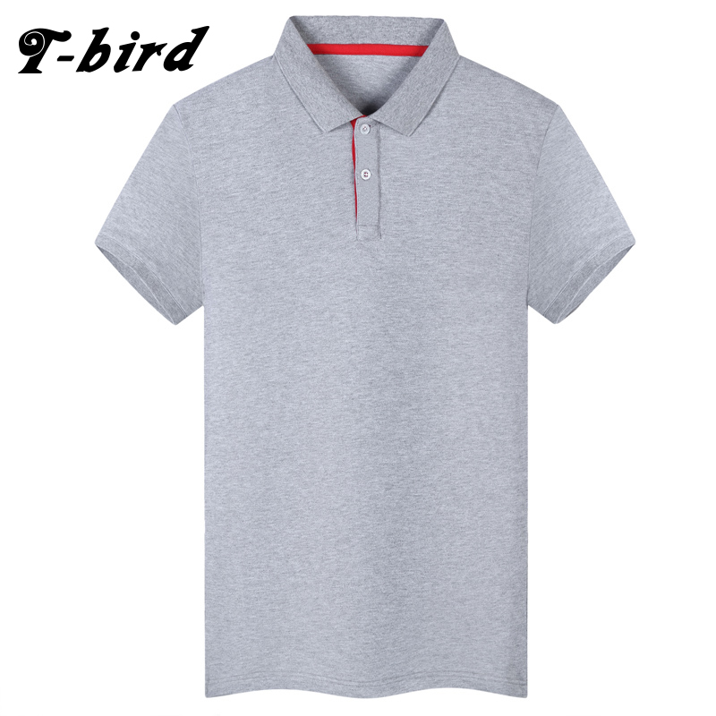 T-bird 2018 Men's Brand Solid Color   Polo   Shirt For Men Designer   Polos   Men Cotton Short Sleeve Shirt Brands Jerseys Golftennis 3X