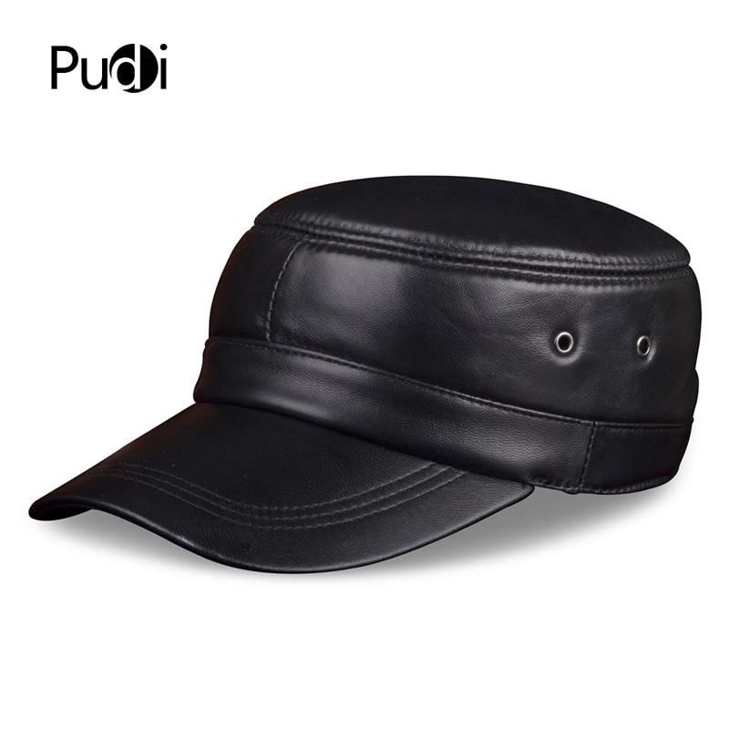 HL071 Echtes Schafsleder Rider Style Rindsleder Fashion Army Cap Box - Bekleidungszubehör