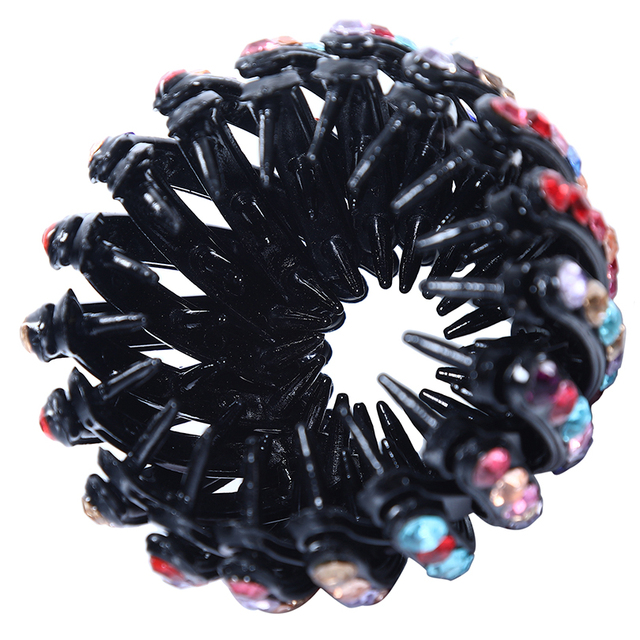 Women's Crystal Hairpin Holder Claws