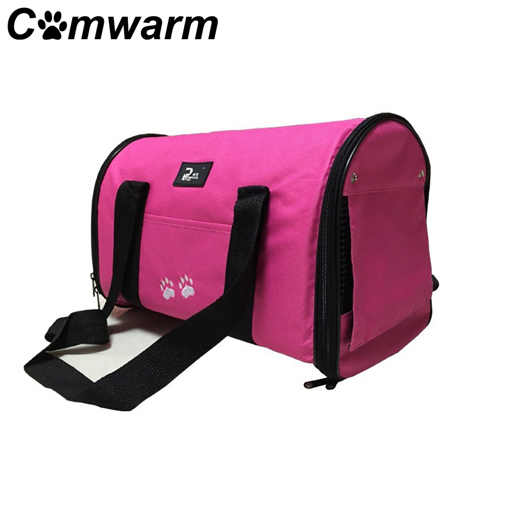 Comwarm Portable Pet Dog Folding Bag Cat Bags Puppy Carrier Travel Tote Kitten Box Cage Breathable Mesh Handbag for Pet