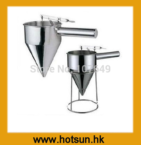 Free Shipping Stainless Steel Funnel for Batter Dispenser цена