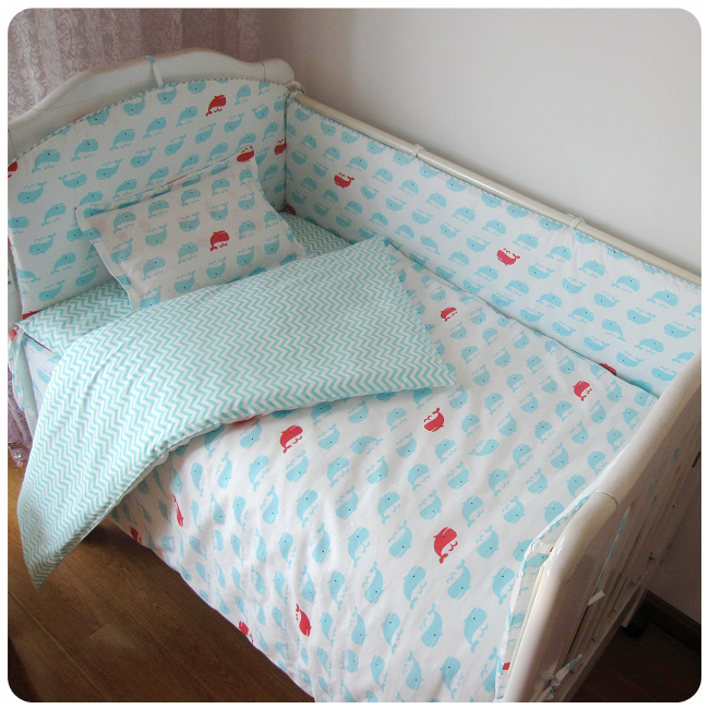 Promotion 9PCS Whole Set Cartoon Baby Bedding Kit Bed Sheets Bed Around Beautiful  Bedding Bumper Sets ...