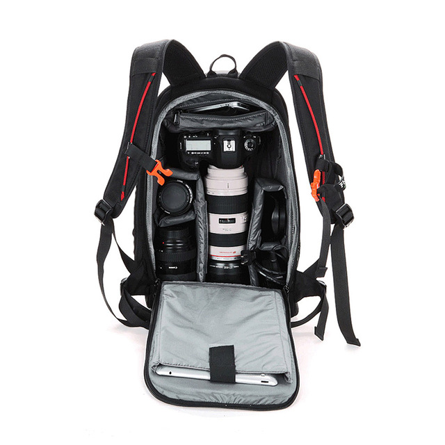 פונקציונלי עמיד למים DSLR תרמיל מצלמה וידאו תיק מרופד מצלמה תרמיל עבור Canon Nikon צילום מצלמה תיק באיכות גבוהה