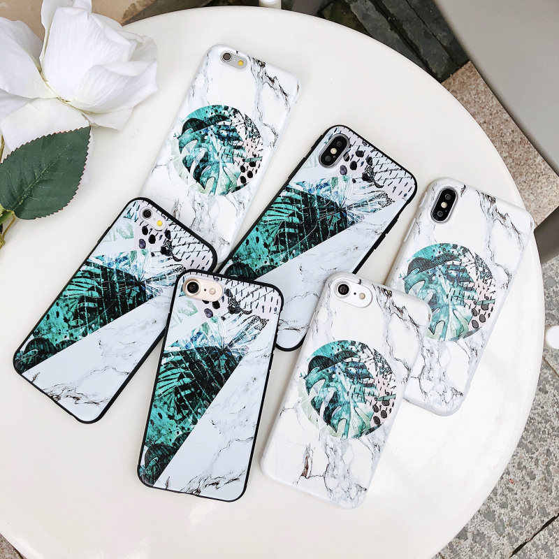 XSY G Marble Green Leaf For iphone 6 Cases Cover Soft Silicone TPU For  iphone 7 6 9a36f8a11da3b