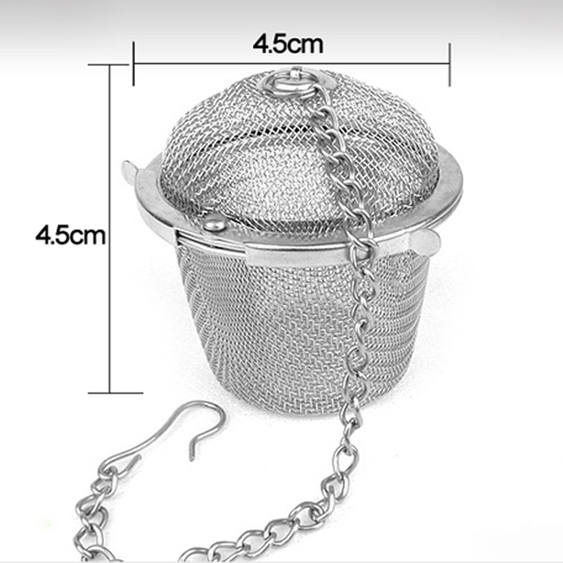 Portable Stainless Steel Tea Strainer Infuser Locking Tea Spice Mesh Herbal Ball Teapot Leaf Filter Coffee Tea Tools Accessories