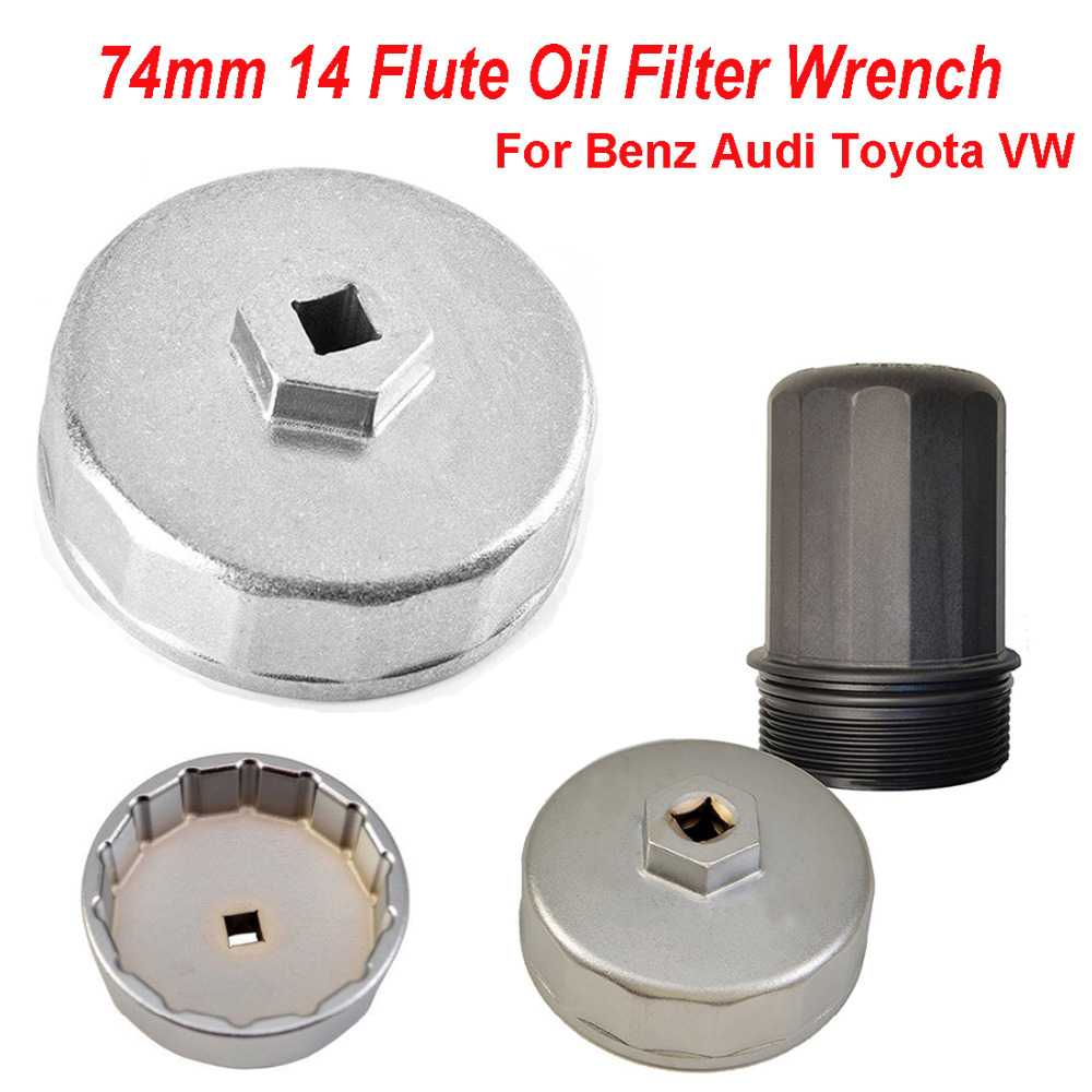 Chuang Qian 74mm 14 Flute Oil Filter Wrench Cap Housing Tool Socket Removal For <font><b>BMW</b></font> Motorcycle F650/F800/<font><b>K100</b></font>/K1100K/K1200/K1300 image