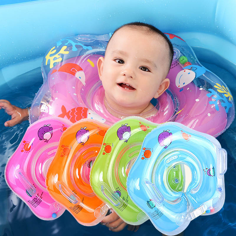 Baby Swimming Accessories Neck Ring Tube Baby Inflatable Ring Safety Infant Float Circle For Infant Bathing Circle Neck Float
