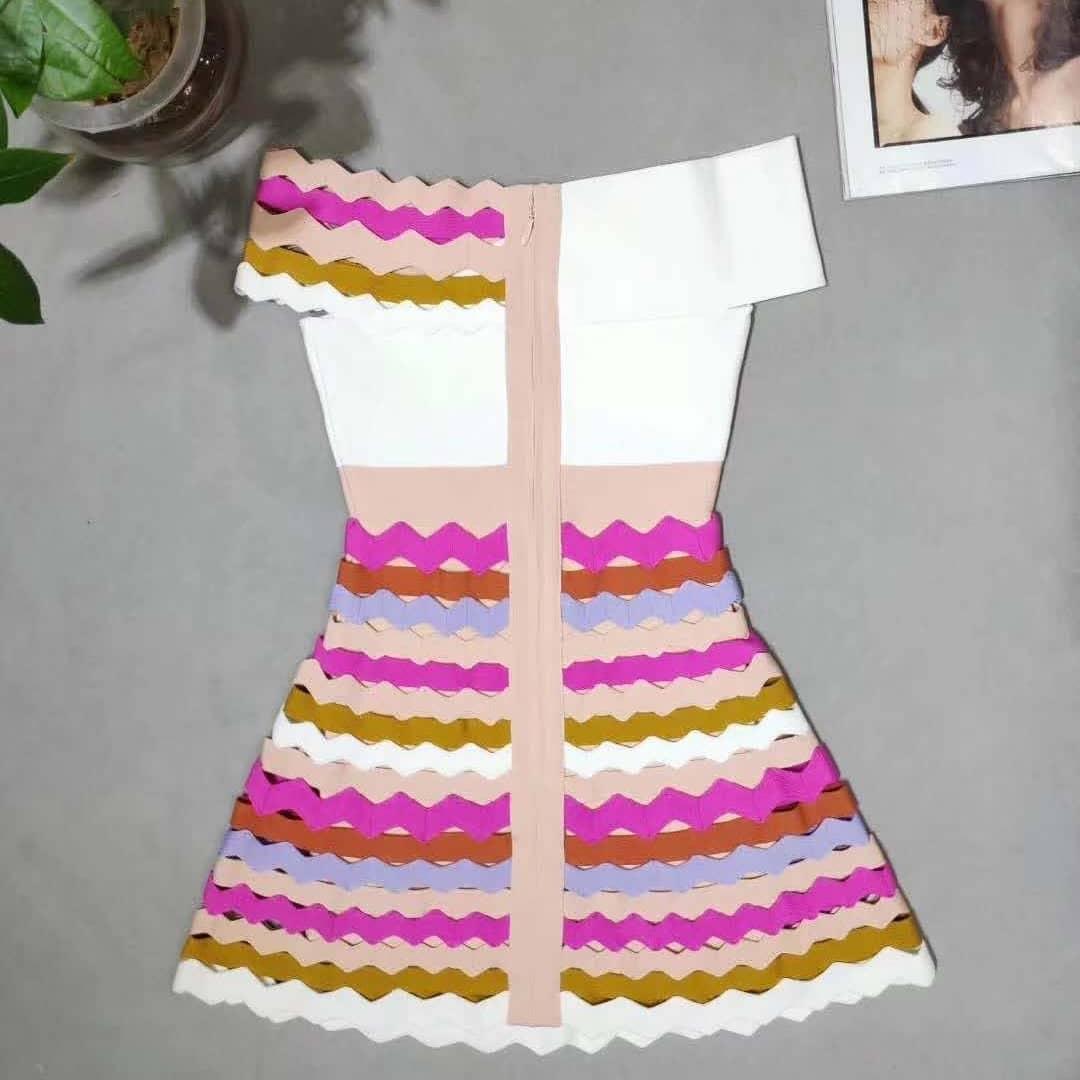 Delocah, модное осеннее Мини Короткое платье для подиума, женское платье с расклешенными рукавами, с принтом персонажа, кружевное Сетчатое элег... - 5