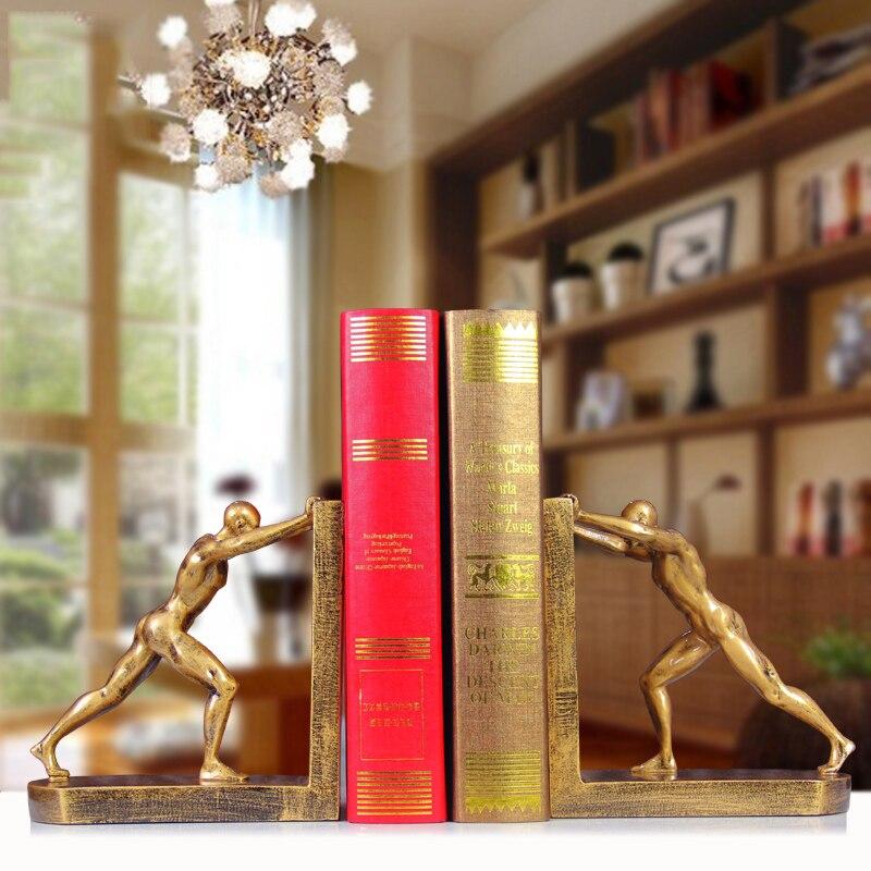Style européen créatif rétro mâle corps livre résine artisanat décoration ameublement bibliothèque moderne serre-livres ornement