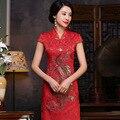 2016 Limited Chinese Dress Summer New High-end Elegant Retro Slim Long Cheongsam Dress Fashion Wholesale Daily Improvement