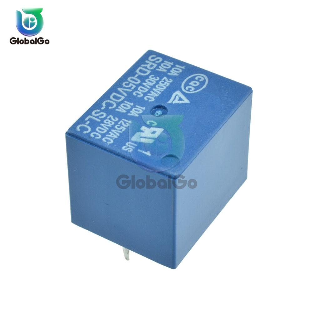 5pcs/Lot DC 5V 10A Power Relay Module SRD-5VDC-SL-C 5Pin PCB One 1 Channel Relay Switch Control Module