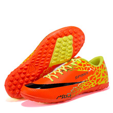Turf Soccer Shoes For Men Hard Court Kids Boy Sports Football Sneakers Size 35-44 Teens TF Futsal Cleats Boots Indoor Chuteiras