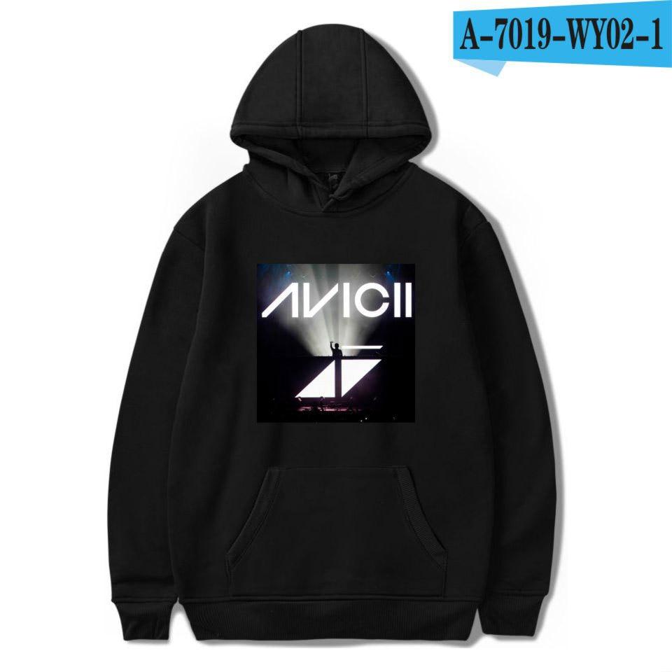 Avicii Purple Logo Black Zip Hoodie Sweatshirt New Official Adult