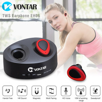 Vontar K2 TWS Mini Portable Earbuds Twins Earphone Bluetooth Wireless Headphone With Battery Box Noise Cancel