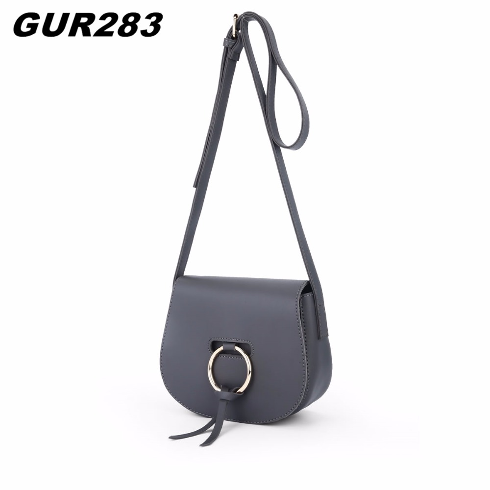 Fashion Ladies Circle Metal women messenger bags Casual Shoulder Bag luxury leather handbags designer  crossbody bag 2017 New 2017 new fashion luxury handbags women leather bags designer college students crossbody shoulder messenger bags small bag baobao