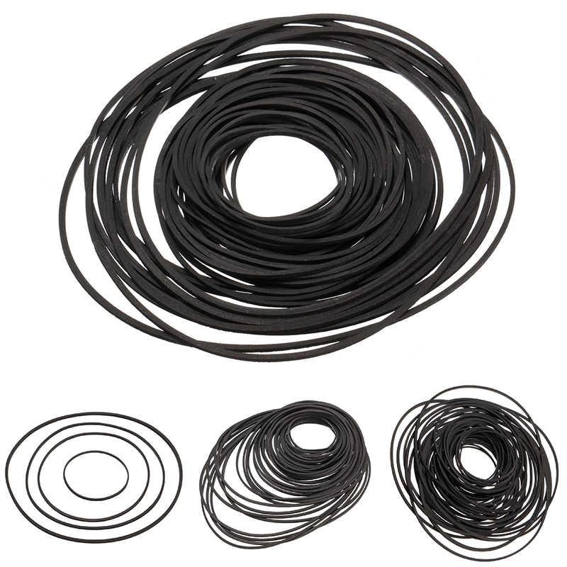 60+pcs Universal Repair Tape Machine Belt 40-130mm Mix Cassette Tape Machine Square Belt For Recorders Walkman