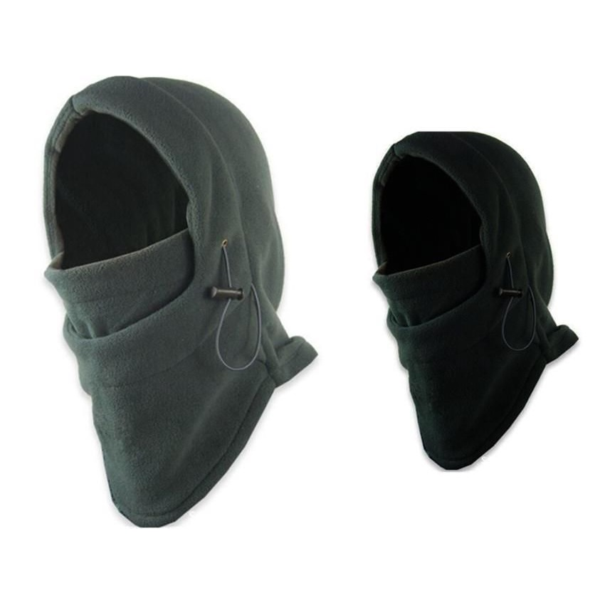 Winter Warm Thermal Fleece Balaclava Hunting Shooting Headwear Full Face Mask Outdoor Sport Snood Hood Scarf Beanie Hats Caps