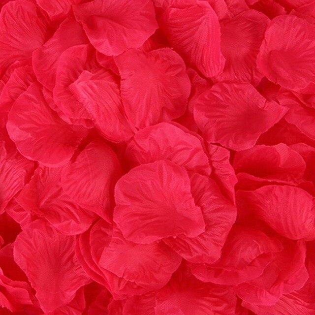 500PCS/Lot 5*5CM Silk Rose Petals for Wedding Decoration Romantic Artificial Rose Flower 20 Colors Wedding Accessories #298244 4