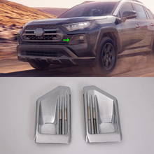 Car Accessories Exterior Decoration ABS Front Fog Lamp Light Cover Trims For Toyota RAV4 2019 Adventure Car-styling bjmycyy car styling car front reading lamp decoration frame for toyota rav4 2014 auto accessories
