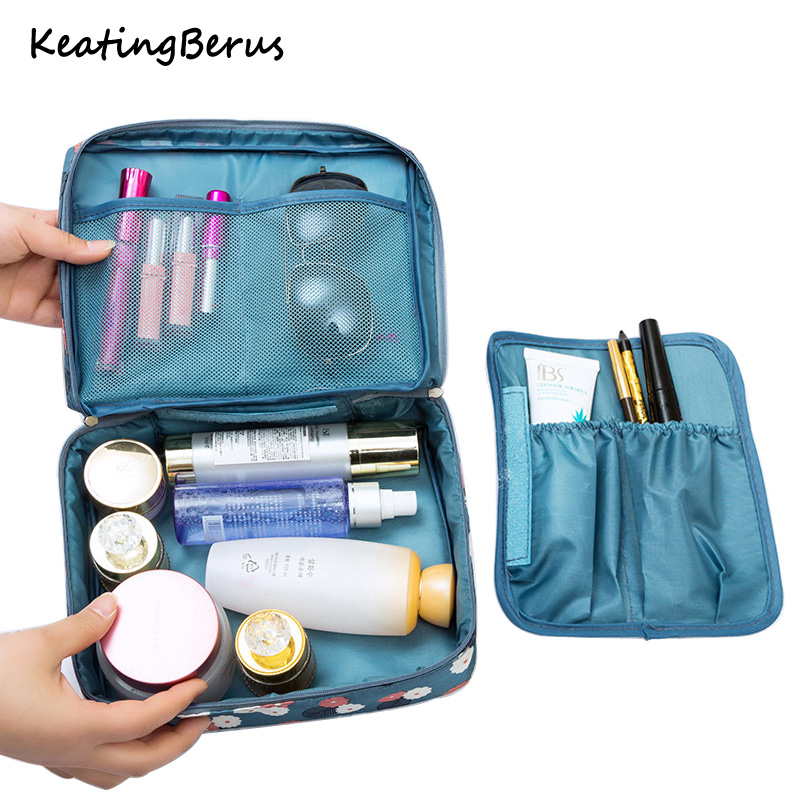 Multifunction Women Makeup Bag Waterproof Nylon Cosmetic Bag Organizer Toiletries Waterproof Female Storage Make Up Cases