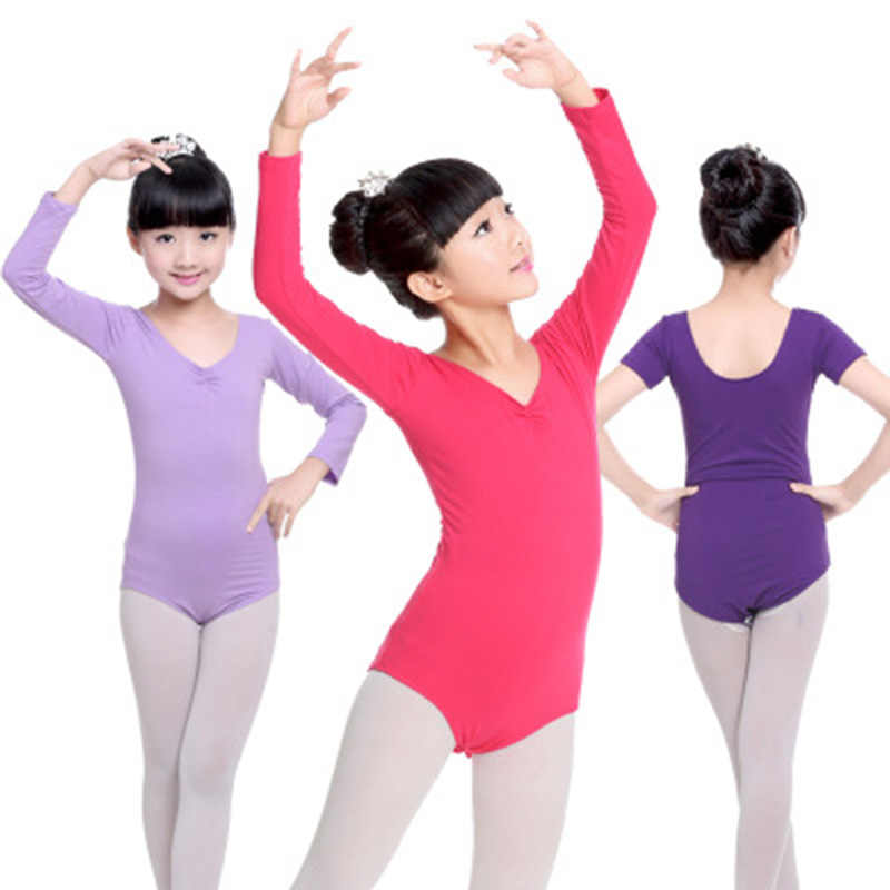Long Sleeve Spandex Dress Gymnastics Leotard for Girls Ballet Dress Clothing Kids Dance Wear Skirt Spandex Ballet Dancing Dress