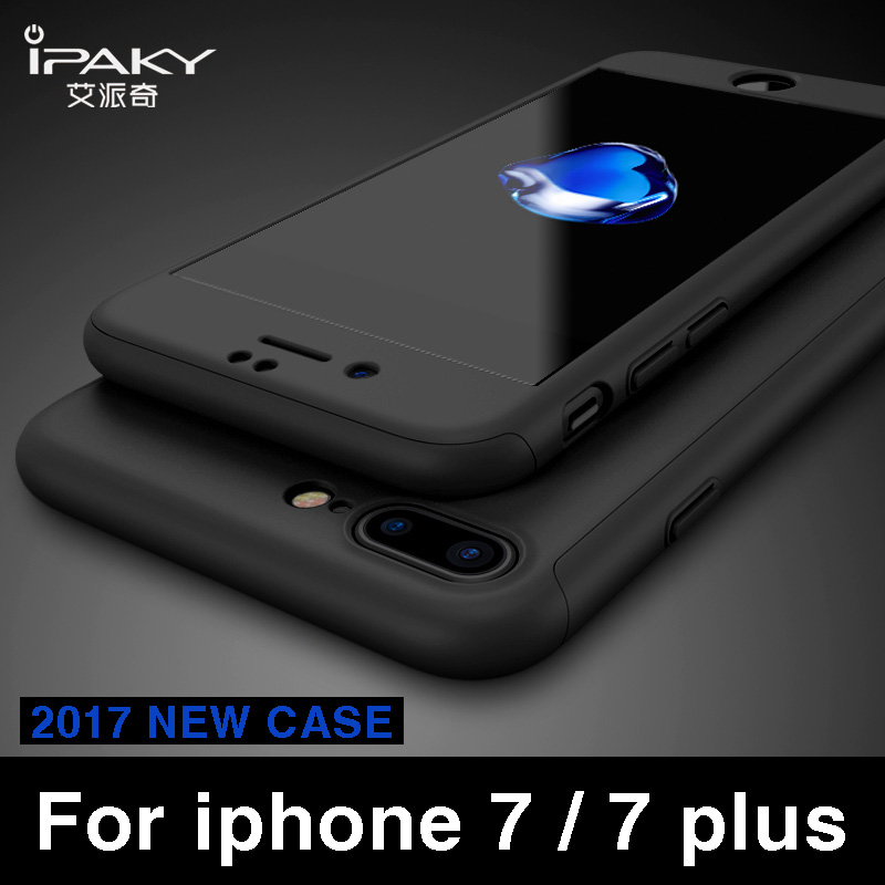 iPaky 360 full Body Ultra Thin case for iphone 7 case +Tempered Glass Screen Protector for iPhone 7 plus case for iphone 7 cover spigen iphone 8 plus case