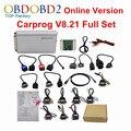V8.21 Carprog Carro Prog 8.21 Programador ECU Tuning Chip Ferramenta Adaptadores Completa Para Odômetros Airbag Do Carro Dashboard Immo Versão Online