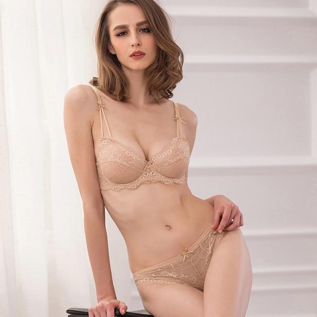 e31d8bdbee CINOON Women s sexy vs bra set lace underwear adjustable thin cup lingerie  set plus size womens bras and underwear sets