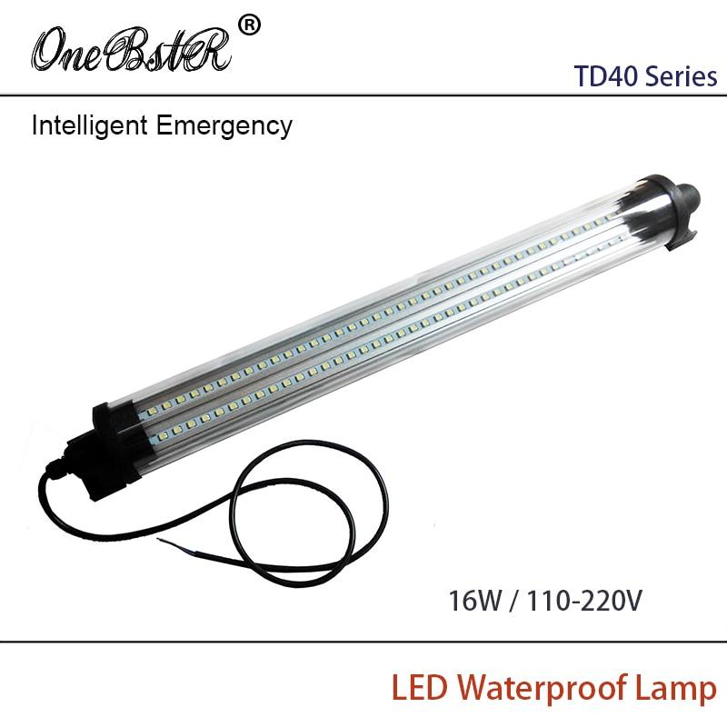 HNTD 16W AC 110V-220V Intelligent Emergency LED Proof lamp Cylindrical transparent Waterproof IP67 TD40 Free shipping